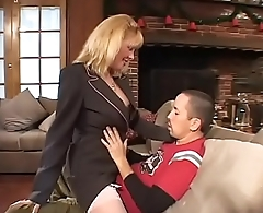 Hot mature blonde slammed by a young cock