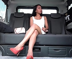 FUCKED IN TRAFFIC - Squirting Indonesian babe goes wild in hardcore car fuck