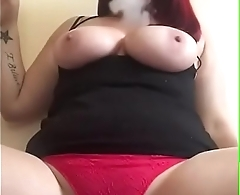 Busty Redhead smoking selfie tease bit.do/d5CV2