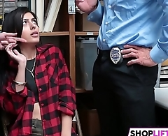 Gal Shoplifter Is In A Tight Corner