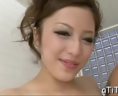 Vigorous japanese titty fuck