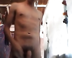 sexy 18yo afraid from being caught showing his body