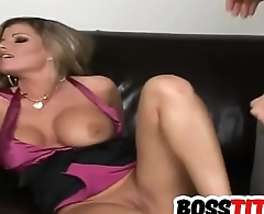Drilling his busty boss Kristal Summers
