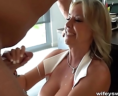 Wifey Blows MasterBlaster And Hub For Cum
