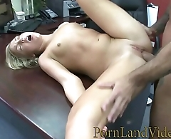 sex chat and fuck in office with little blonde slut Marina Maywood