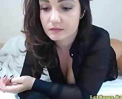 Big-tits whore tease and fuck with her dildo LetCams.Com
