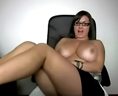 Thick Natural Busty Chick With Glasses Sexy AF - See her at - xVixXxenCams.com