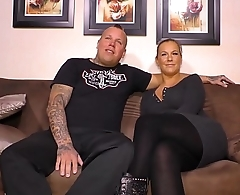 SEXTAPE GERMANY - German babe and partner fuck during their first time porn