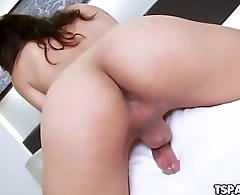 Cute Asian Ladyboy Bhoom Gets Herself Off