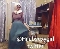 hijabsexygirl 2 -Hijab shows breasts and plays with dildo