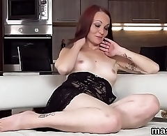 Wacky czech cutie opens up her spread slit to the bizarre