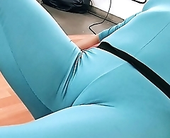 Huge Ass Latina Exposing Cameltoe in Tight Spanex Bodysuit