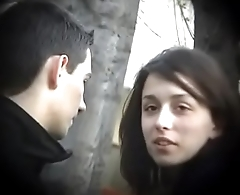 Bulgarian Sexy &amp_ Hot Brunette from Plovdiv Ride Boyfriends Cock on Bench Kissing Licking &amp_ Fondling - Lucky Future Husband Who Will Own Such Dynamite - Part 3