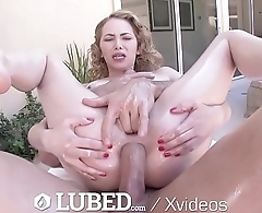 LUBED Outdoor sunny fuck and facial for lubed up blonde Alexa Grace
