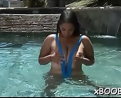 Busty hottie is addicted to wild fuck