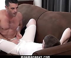 MormonBoyz - Cute ginger gets a Giant daddy cock raw