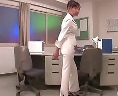 Hot Japanese Fucked In Office By Two Cocks