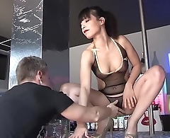 LA COCHONNE - Wild group sex &amp_ DP with lusty French babe Yasmine and three studs
